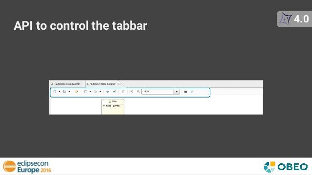 API to control the tabbar 4.0