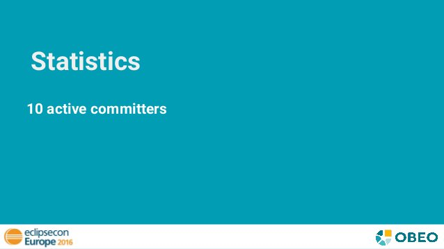 Statistics 10 active committers