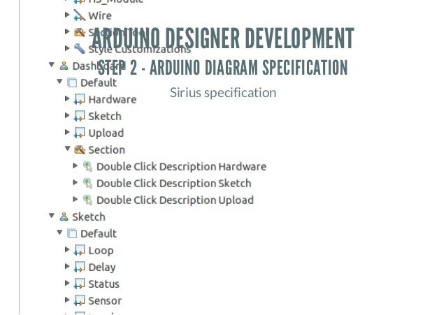 ARDUINO DESIGNER DEVELOPMENT STEP 2 - ARDUINO DIAGRAM SPECIFICATION Sirius specification