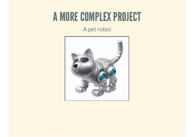 A MORE COMPLEX PROJECT A pet robot