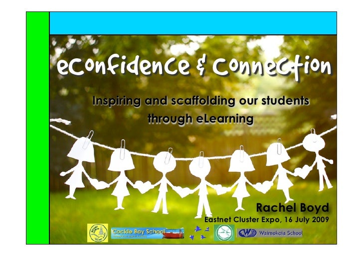 eConfidence & Connection    Inspiring and scaffolding our students              through eLearning                         ...