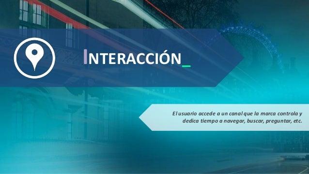 INTERACCIÓN_ El usuario accede a un canal que la marca controla y dedica tiempo a navegar, buscar, preguntar, etc.