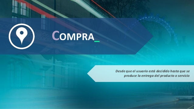 COMPRA_ Desde que el usuario está decidido hasta que se produce la entrega del producto o servicio