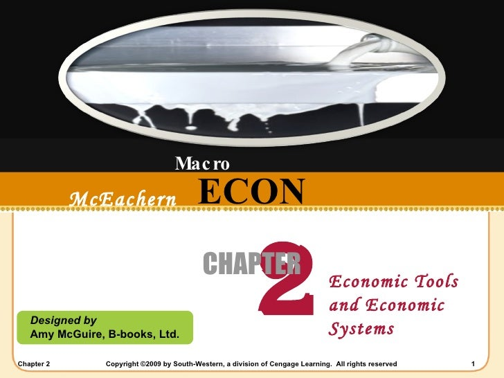 ECON Designed by Amy McGuire, B-books, Ltd. McEachern   2008-2009 2 CHAPTER Economic Tools and Economic Systems Macro