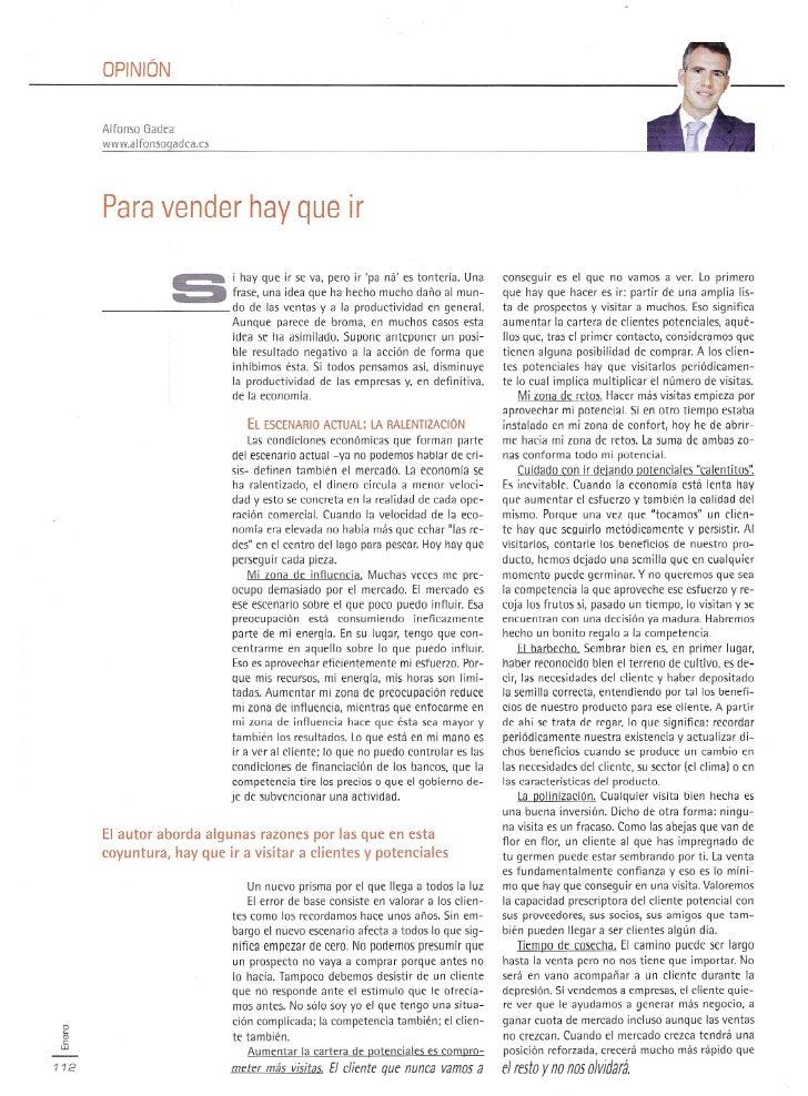 OPINiÓN      Alfunsu Oadca      www.alfomogadca.cs      Para vender hay que ir                   ~       i hay que ir se v...