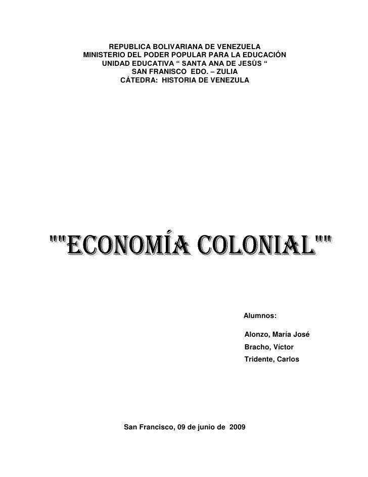 """REPUBLICA BOLIVARIANA DE VENEZUELAMINISTERIO DEL PODER POPULAR PARA LA EDUCACIÓN     UNIDAD EDUCATIVA """" SANTA ANA DE JESÚS..."""