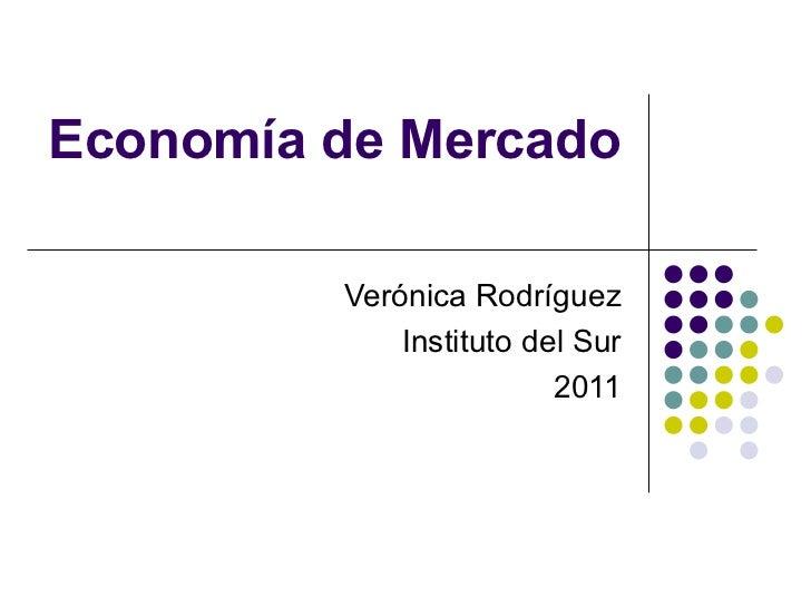 Economía de Mercado Verónica Rodríguez Instituto del Sur 2011