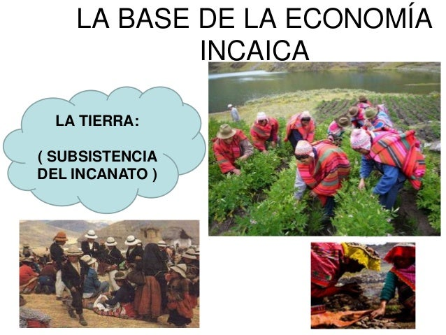 Los Incas organizaron su economía en base alcontrol de diferentes zonas productivas.Como estas áreas estaban determinadas ...