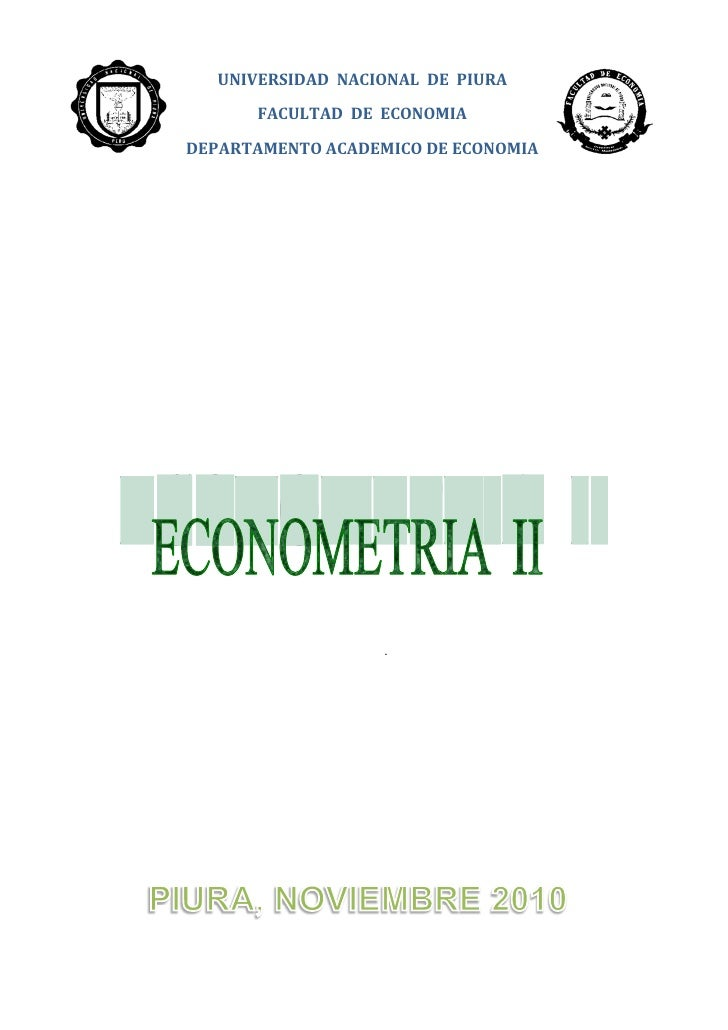UNIVERSIDAD NACIONAL DE PIURA       FACULTAD DE ECONOMIADEPARTAMENTO ACADEMICO DE ECONOMIA                   .