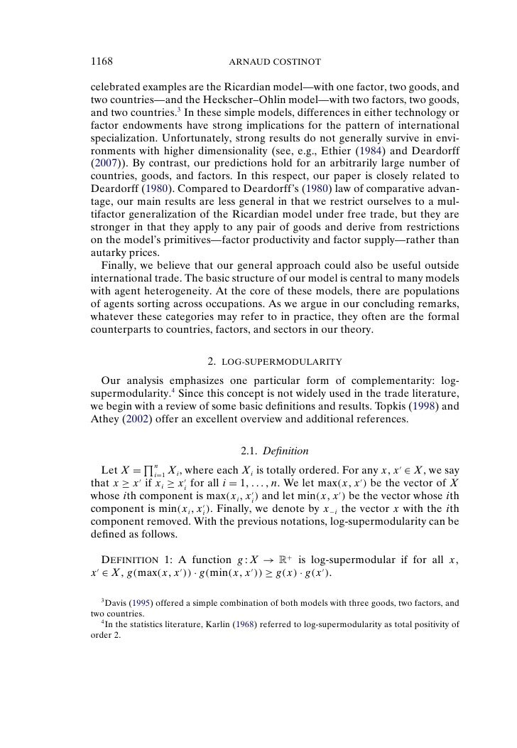 1 how does the heckscher ohlin theory differ from ricardian theory in explaining international trade To get a clear perspective to this claim, i will glance though five major main theories on international trade-the ricardian comparative advantage model on gains from specialization and opportunity cost theory, heckscher-ohlin model who believes that factor proficiency differences are the reasons why countries engage in.