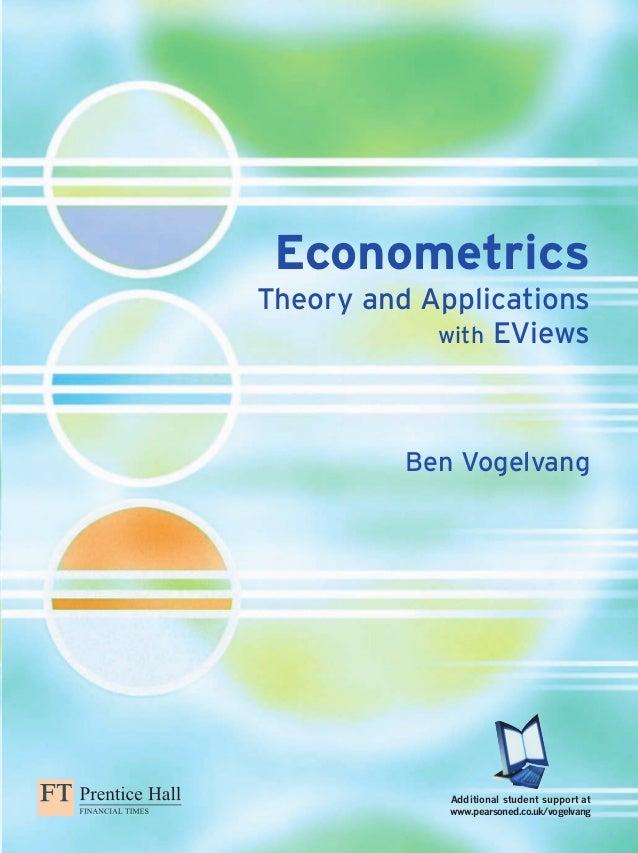 econometrics theory and applications with eviews rh slideshare net Econometric Software Econometrics LEGO