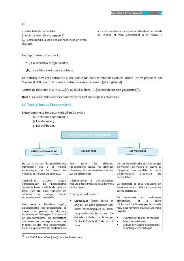 Econometrie done - Comment lire la table de la loi normale ...