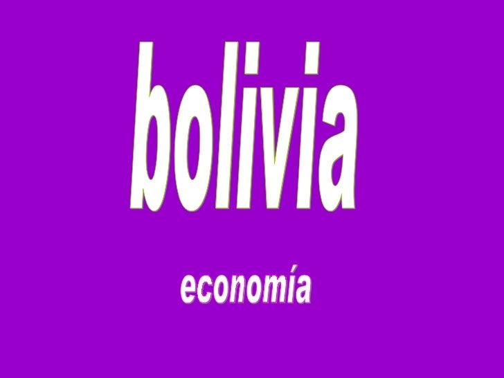 economía bolivia