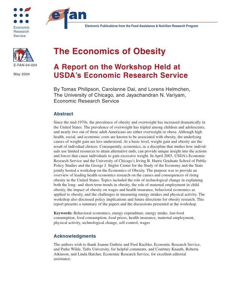 Economic                           Electronic Publications from the Food Assistance & Nutrition Research Program Research ...