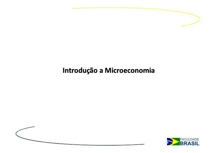 Introdução a Microeconomia
