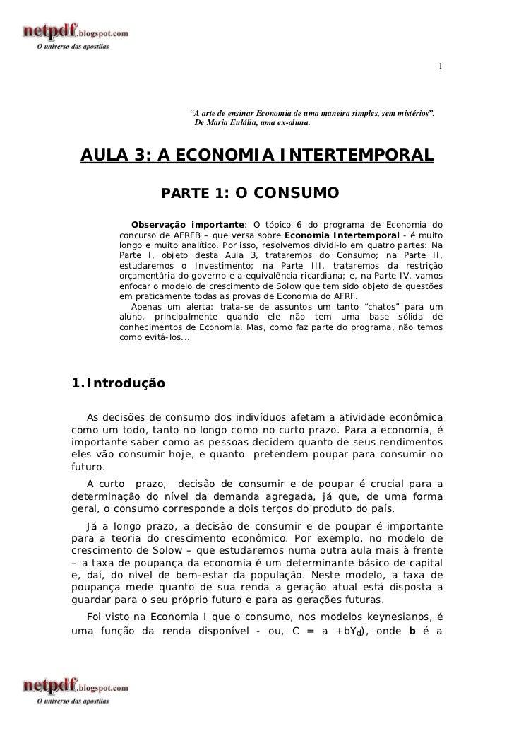 """1                        """"A arte de ensinar Economia de uma maneira simples, sem mistérios"""".                         De Ma..."""
