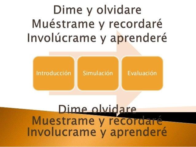 Introducción Simulación Evaluación