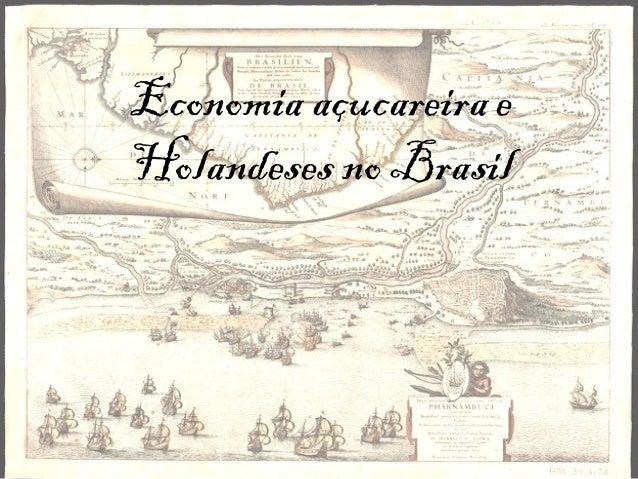 Economia açucareira eHolandeses no Brasil