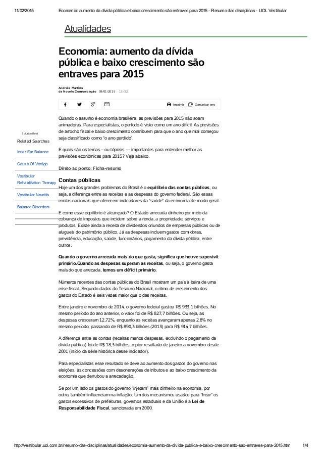 11/02/2015 Economia:aumentodadívidapúblicaebaixocrescimentosãoentravespara2015ResumodasdisciplinasUOLV...