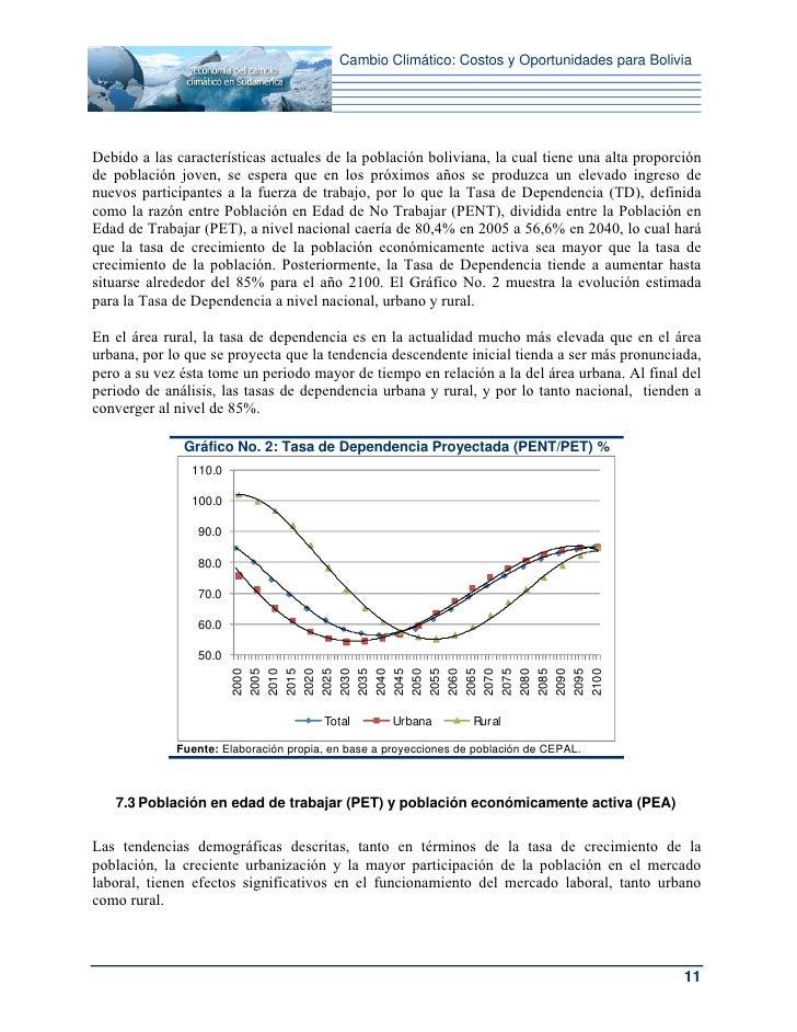 Cambio Climático: Costos y Oportunidades para BoliviaDebido a las características actuales de la población boliviana, la c...