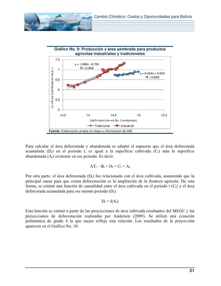 Cambio Climático: Costos y Oportunidades para Bolivia                                            Gráfico No. 9: Producción...
