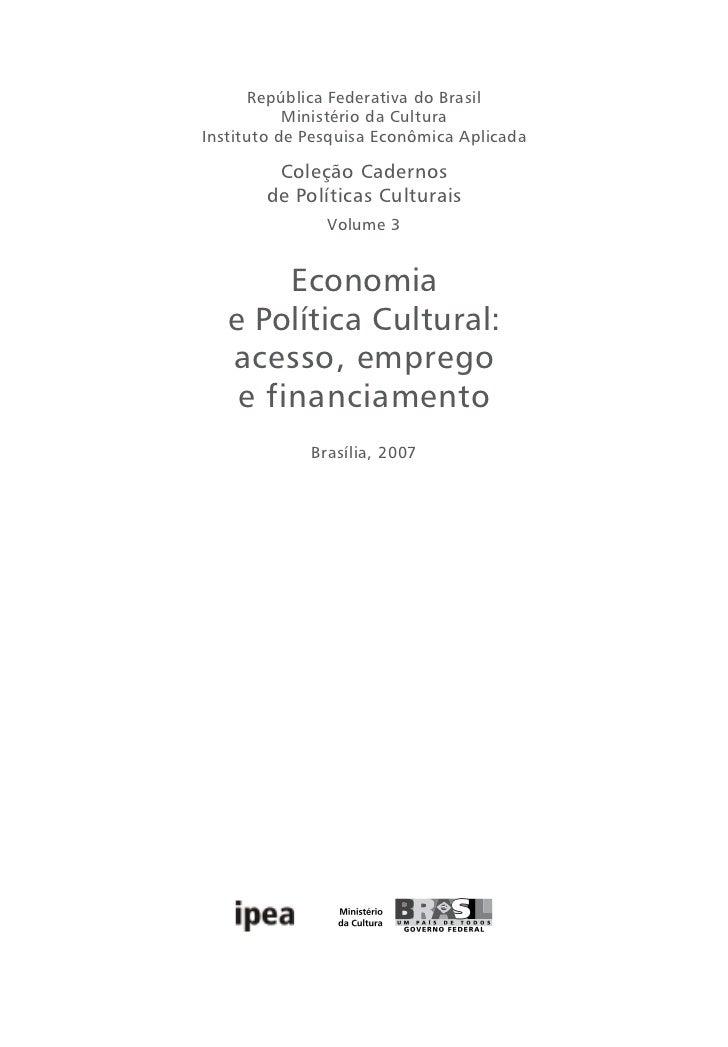 Economia cultural