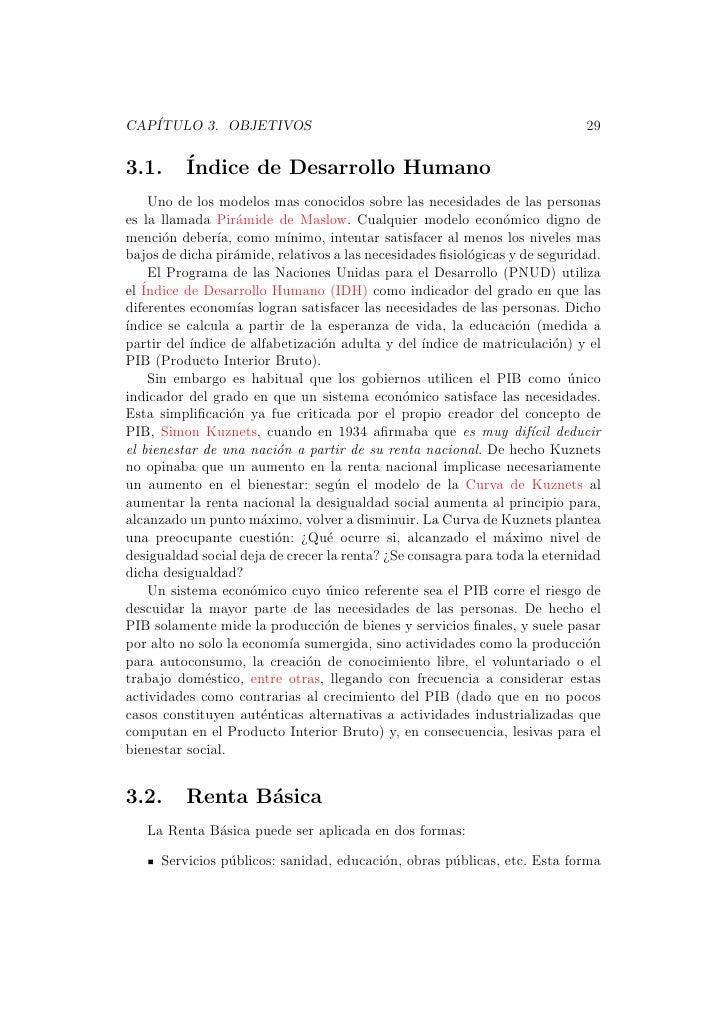 CAP´   ITULO 3. OBJETIVOS                                                        293.1.      ´          Indice de Desarrol...