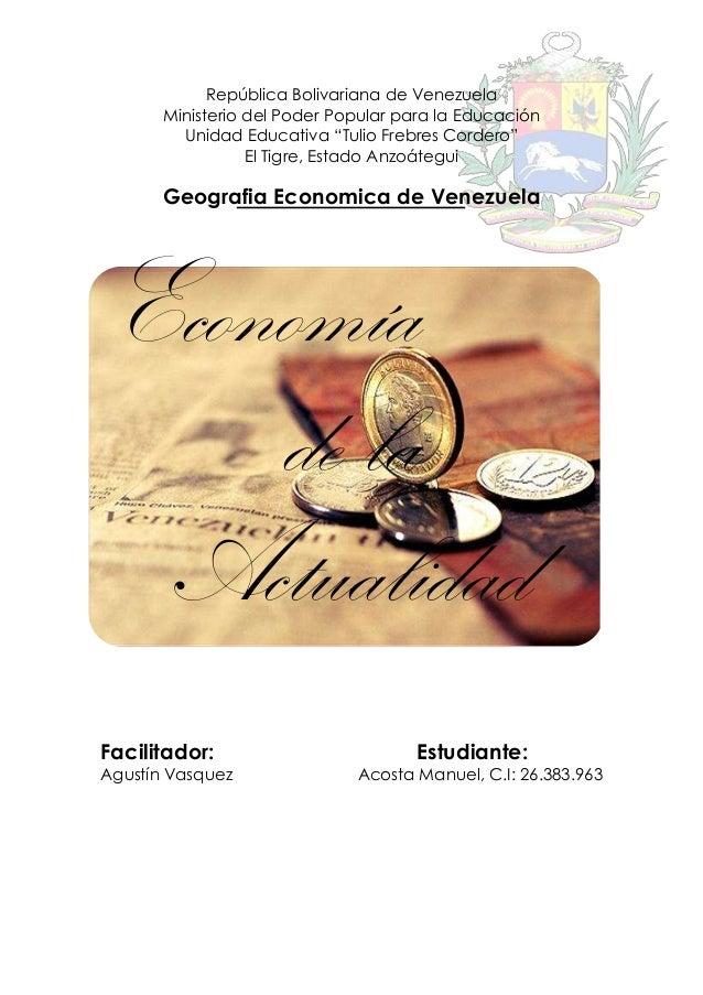 """República Bolivariana de Venezuela Ministerio del Poder Popular para la Educación Unidad Educativa """"Tulio Frebres Cordero""""..."""