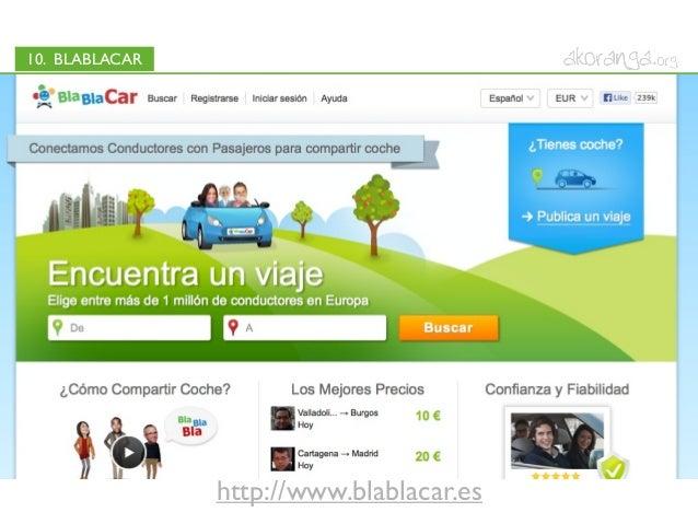 10. BLABLACARhttp://www.blablacar.es