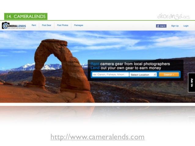 14. CAMERALENDShttp://www.cameralends.com