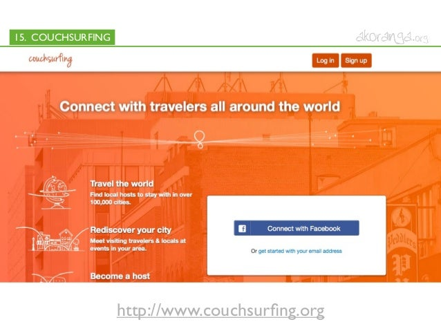 15. COUCHSURFINGhttp://www.couchsurfing.org
