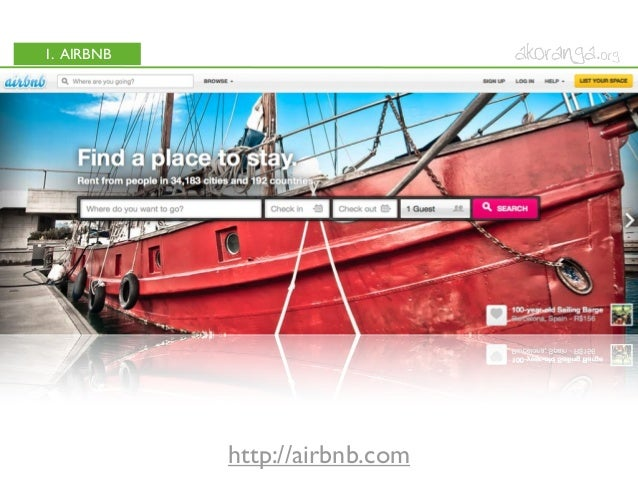 1. AIRBNBhttp://airbnb.com