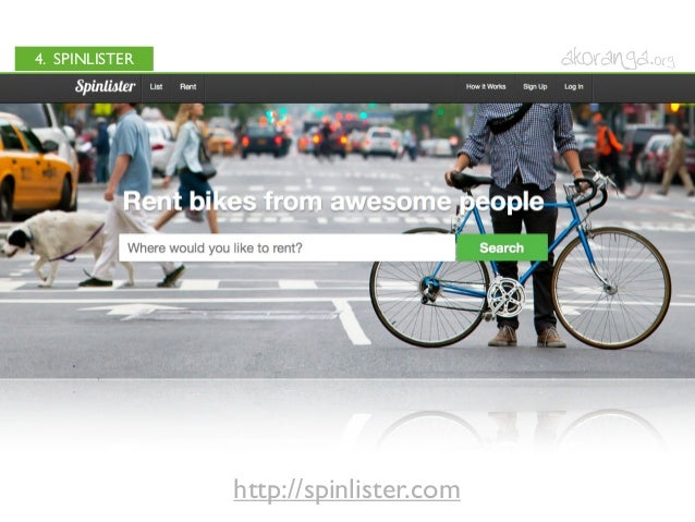4. SPINLISTERhttp://spinlister.com