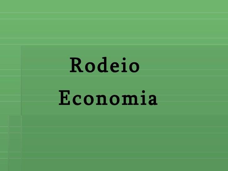 Rodeio Economia