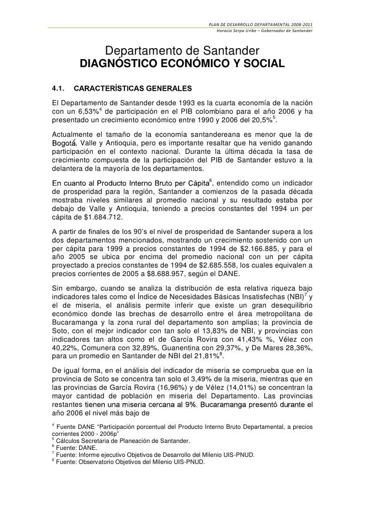 PLAN DE DESARROLLO DEPARTAMENTAL 2008-2011                                                         Horacio Serpa Uribe – G...