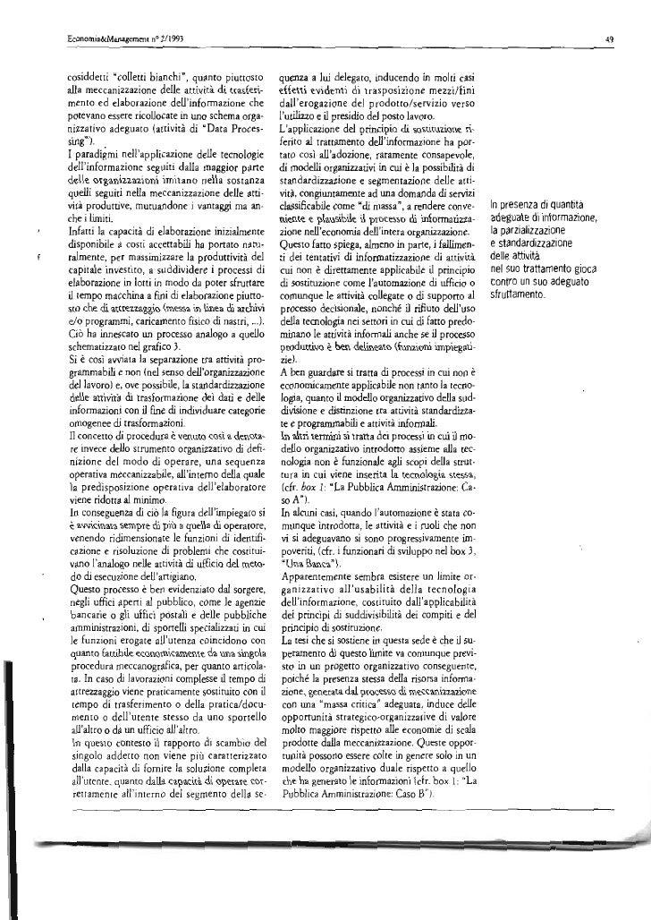 Informatizzazione come Progetto Organizzativo