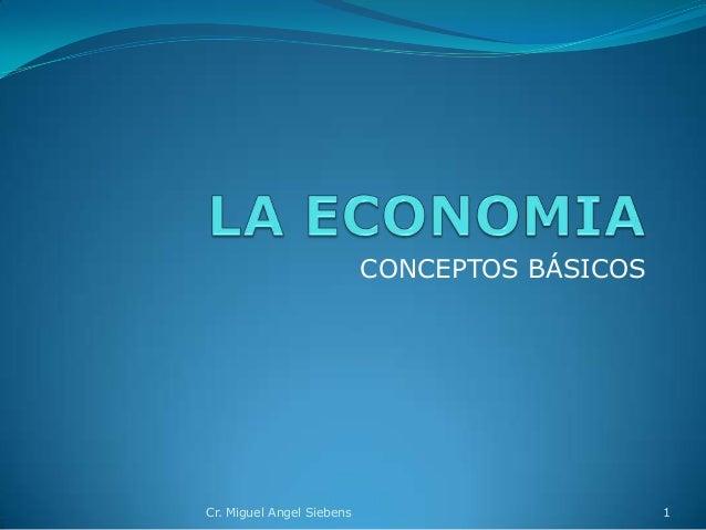 CONCEPTOS BÁSICOS 1Cr. Miguel Angel Siebens