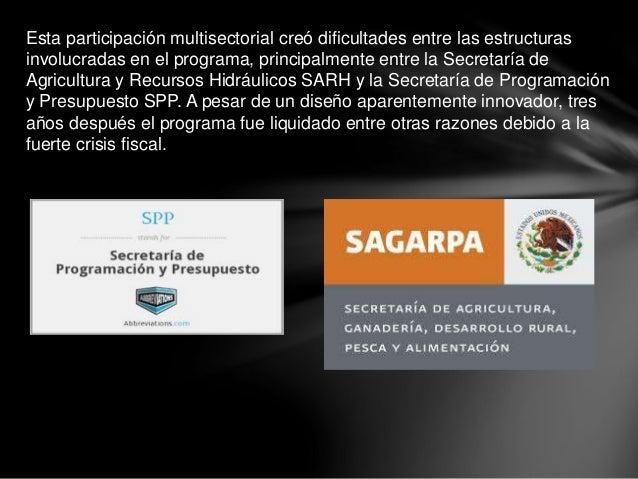 Esta participación multisectorial creó dificultades entre las estructuras involucradas en el programa, principalmente entr...