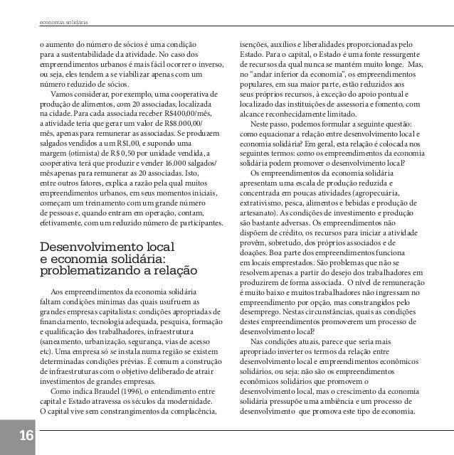 economia solidária             o aumento do número de sócios é uma condição              isenções, auxílios e liberalidade...
