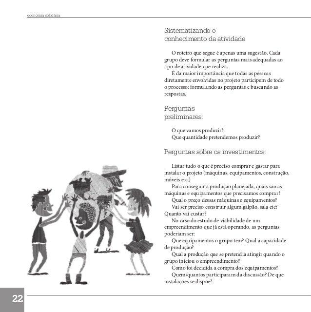 economia solidária                                  Sistematizando o                                  conhecimento da ativ...