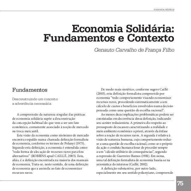 Economia solidaria