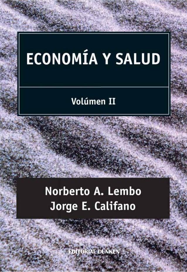 ECONOMÍA Y SALUD Volumen II