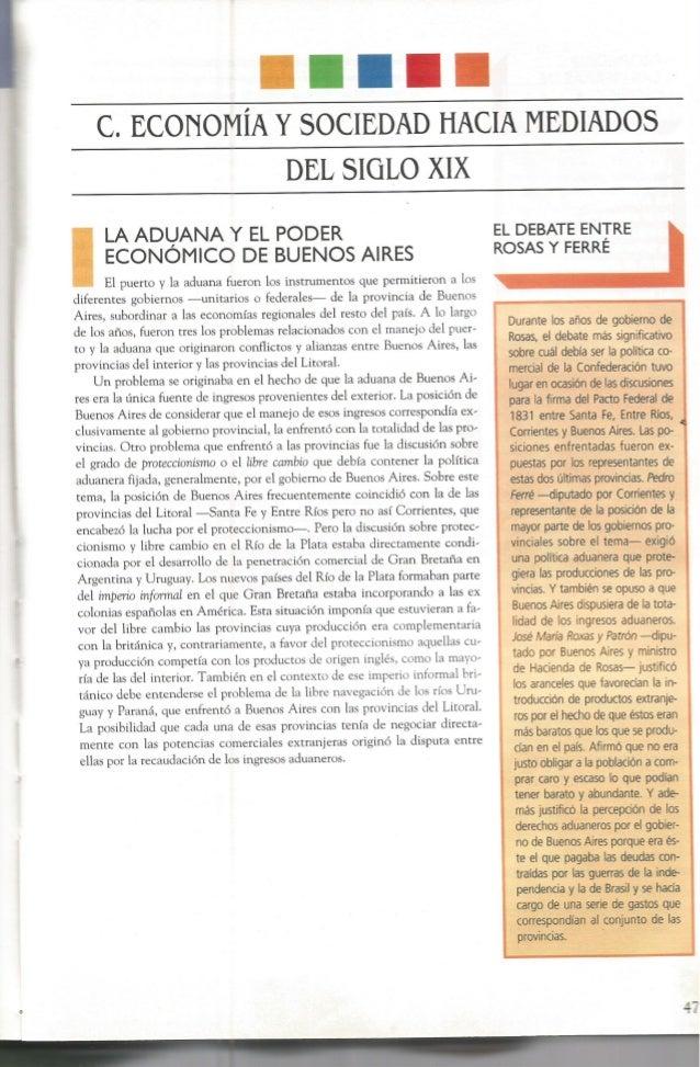 c.  ECONOMÍA Y SOCIEDAD HACIA MEDIADOS        DEL SIGLO XIX     LA ADLIJANA Y EL PODER ECONOMICO DE BUENOS AIRES  El puert...