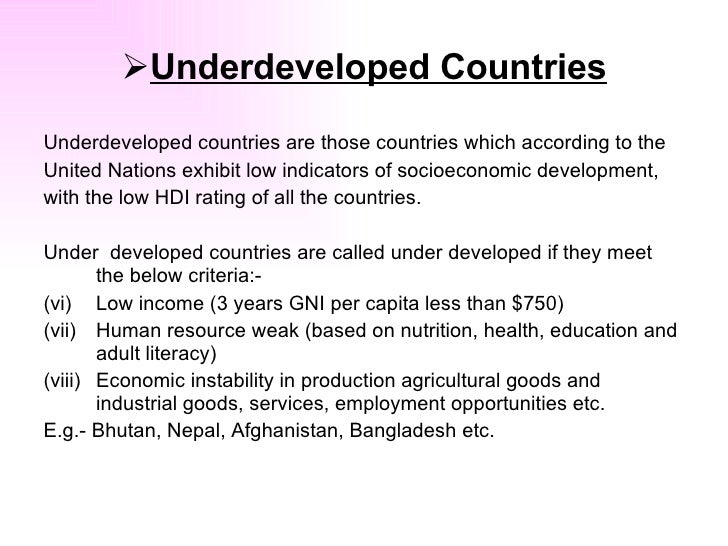 what is meant by underdevelopment