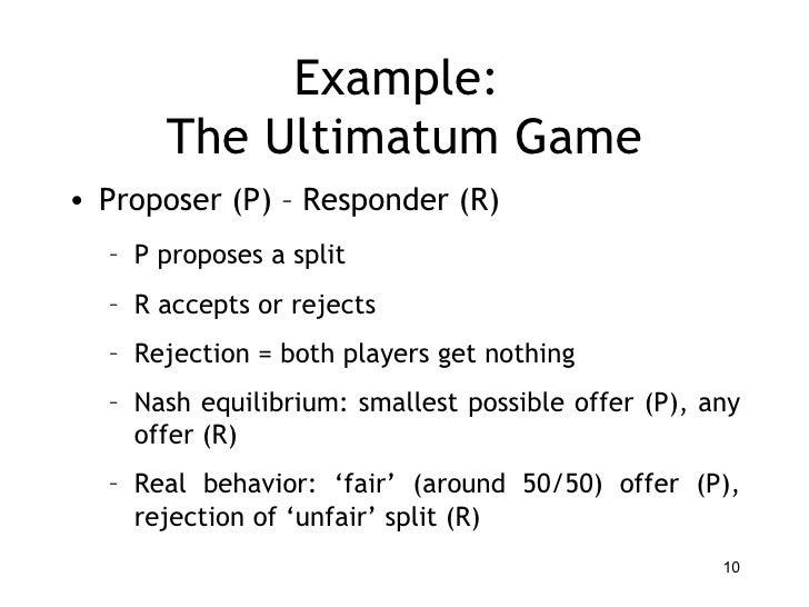 Economic cognition example the ultimatum expocarfo Images
