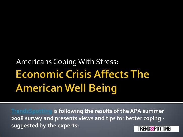 how the economic crisis affects schools