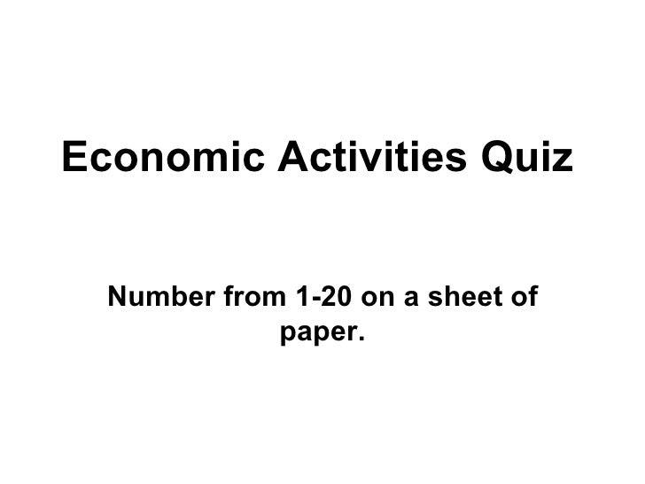 Economic Quiz