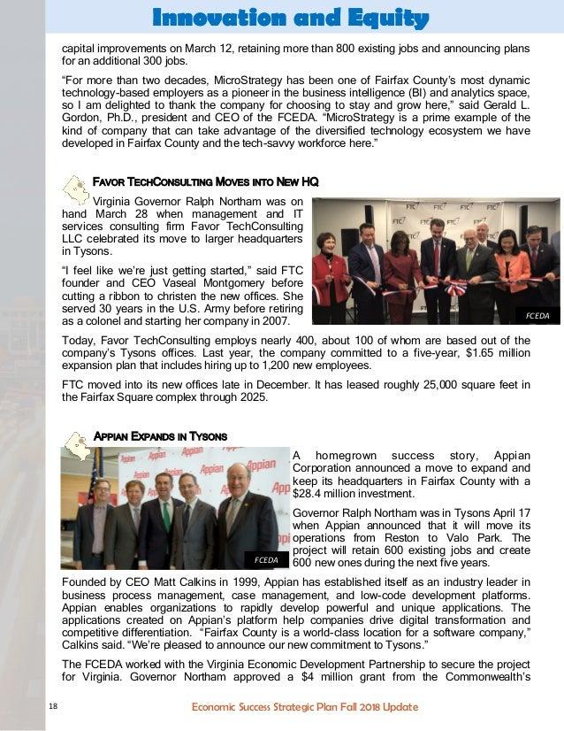 Fairfax County Economic Success Plan Fall 2018 Update