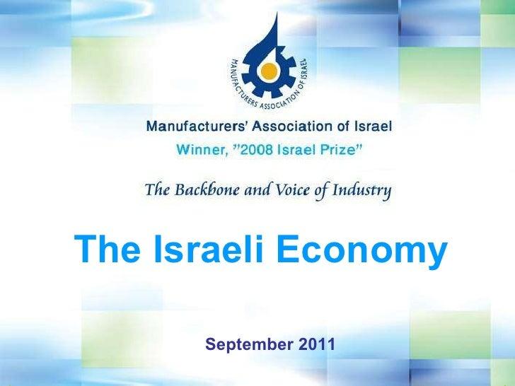 September 2011 The Israeli Economy