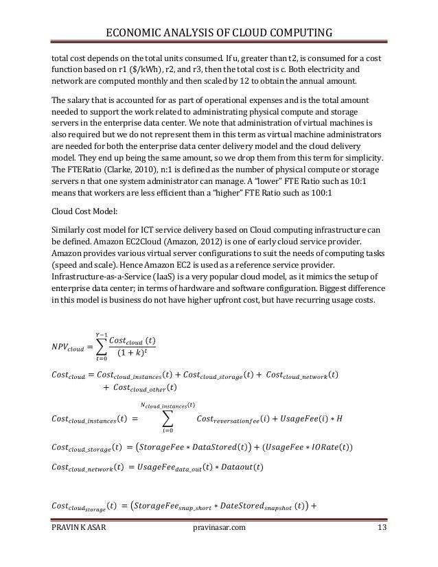 Economic Analysis: cloud_computing